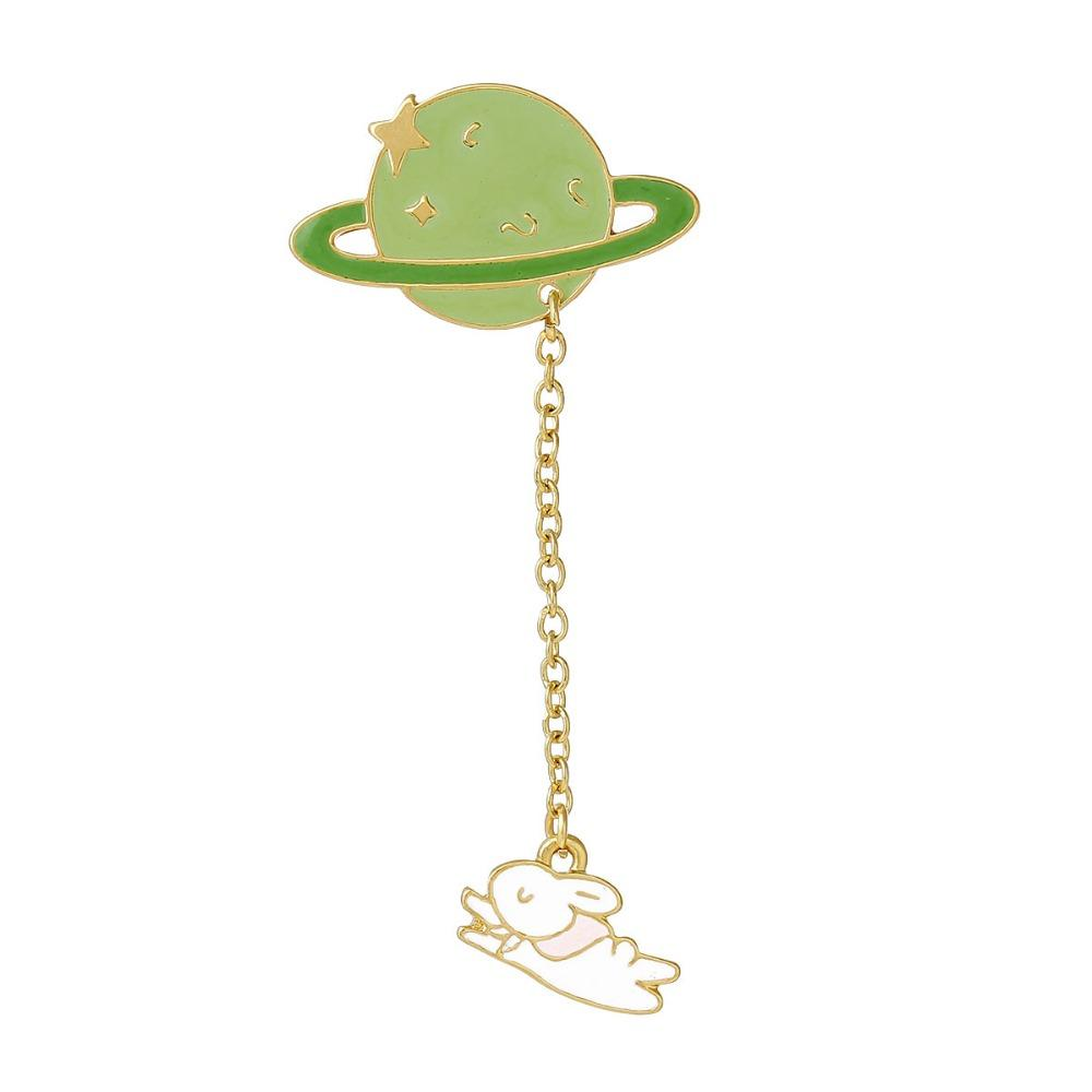 c96d215a901 2019 New Fashion Vintage Designer Enamel Rabbit Planet Charm Costume Brooch  Pins Jewelry Accessories For Women 6.9x3.2cm From Beijia2013, $19.1    DHgate.Com
