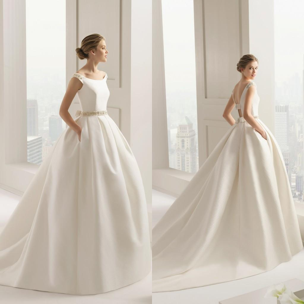 Wholesale 2015 Wedding Dresses With Pockets Scoop Neckline Pearls ...