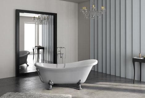 2019 1750mm fiber glass + acrylic bathtub with claw golden legs