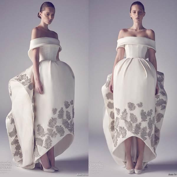 2016 Short Ashi Studio Gorgeous Wedding Ball Gowns Off Shoulder ...