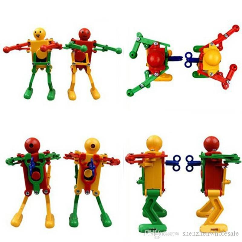 Yeni Varış toptan çocuklar wind up oyuncaklar eğitici oyuncaklar dans robotlar rock roll robotlar benzersiz oyuncaklar 160 adet / grup