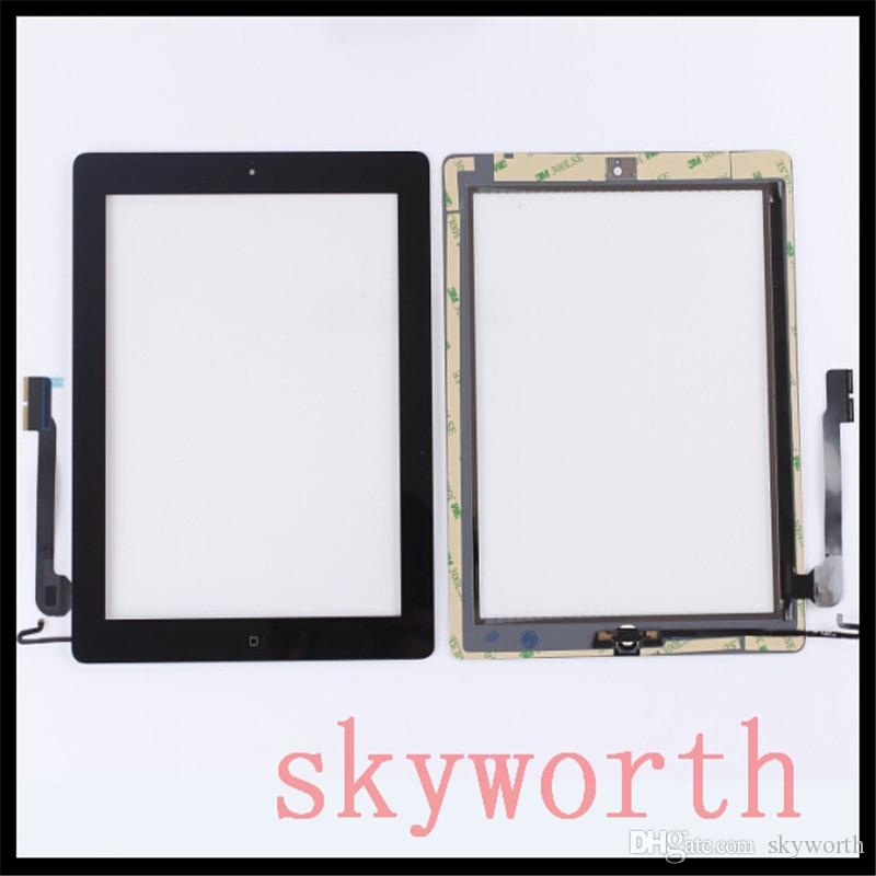 For IPad 2 3 4 5 Ipad Air Touch Screen Glass Digitizer Replacements With  Home Button   Adhesive Complete Assembly DHL Replacement Tablet Screen  Replacement ... 91eae1e843c9b