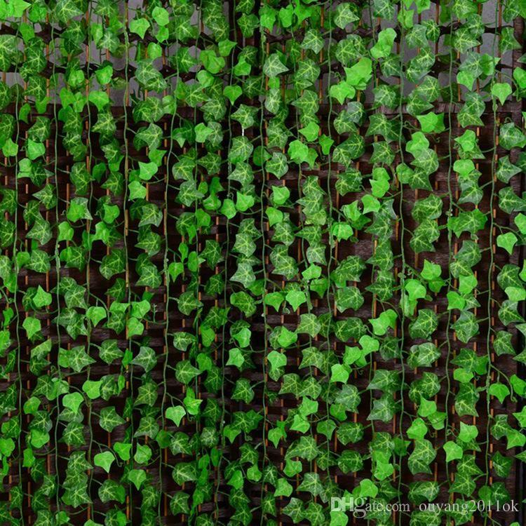 250cm artificial silk simulation creeper climbing vines green leaf
