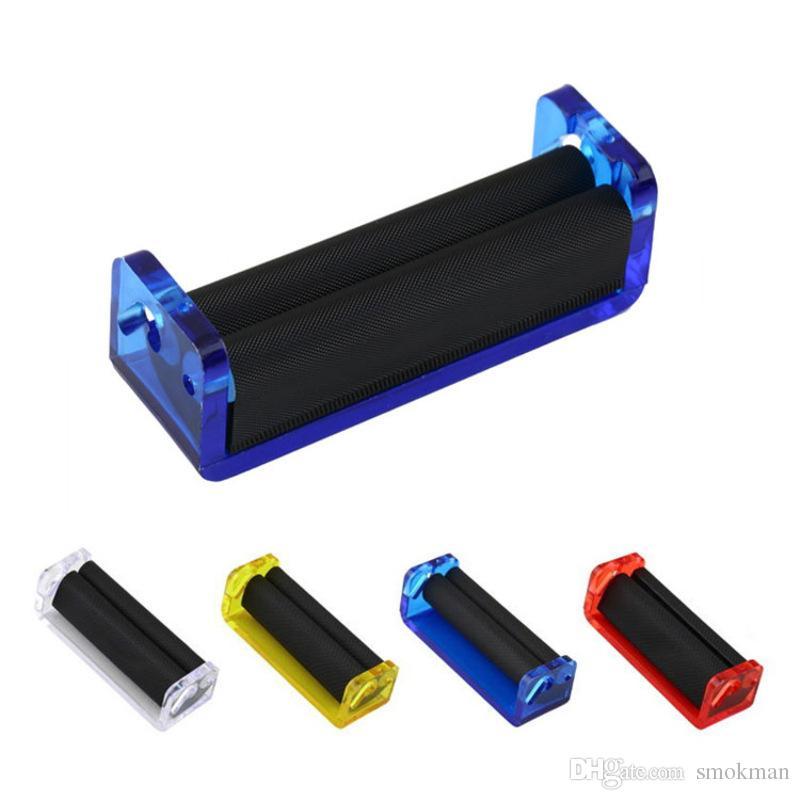 플라스틱 롤링 기계 길이 70mm Protable 담배 롤러 담배 제조 필터 도구 장치 플라스틱 그라인더 롤러