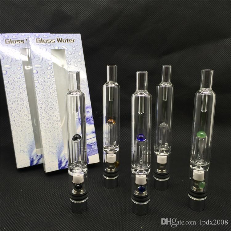 2015 Pyrex Glass Hookah atomizer vhit water atomizer tank Dry Herb Wax Vaporizer herbal vaporizers pen water filter pipe ecig ecig bongs DHL