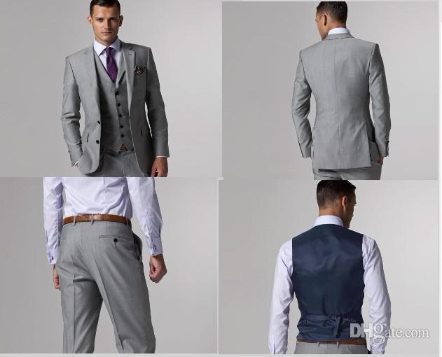 The Groom Dress Custom Light Grey Side Seam Best Man Is Suitable ...