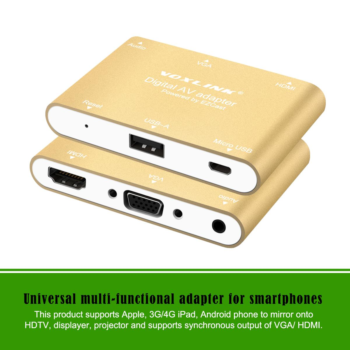3 In 1 Usb To Hdmi Vga Audio Video Converter Digital Av Adapter For Kabel With Iphone 6s Plus Ipad Samsung Ios Android Windows Convert Dvi From