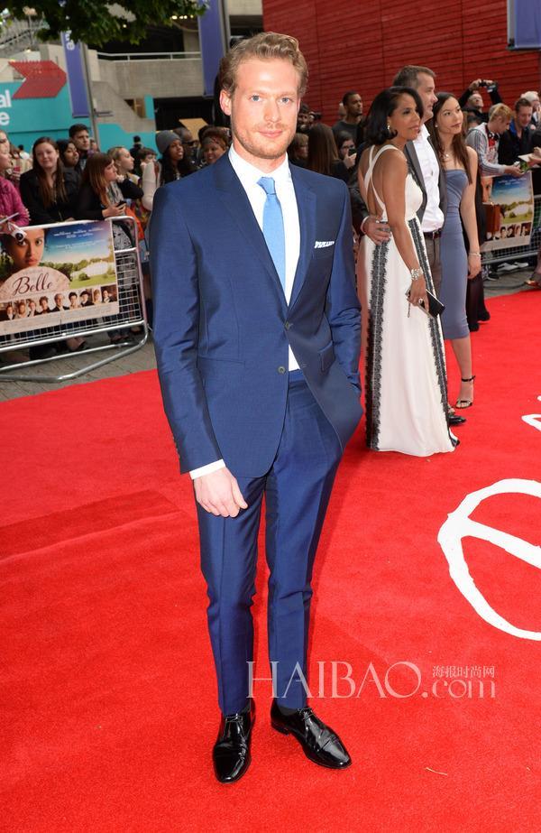 Blue 2015 Oscar Groom Tuxedos Slim Fit Best Man Suit Formal ...