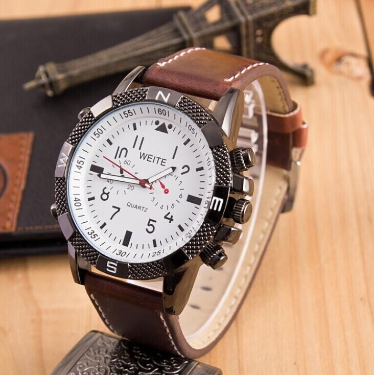 c68ad1a1e Newest Business Man Watches WEITE Watch Outside Cycling Sports Watches  Leather Strap Quartz Racing Wristwatches For Men Cheap Wrist Watches Watches  Cheap ...