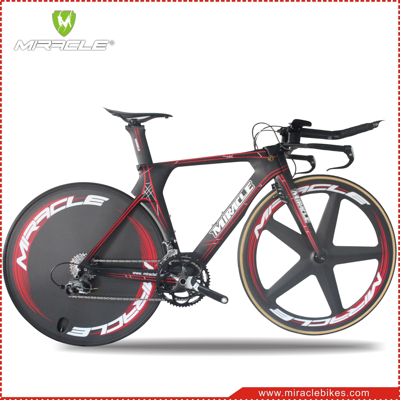 2016 Time Trial Bicycle Miracle Carbon Fiber Triathlon Bike 49cm