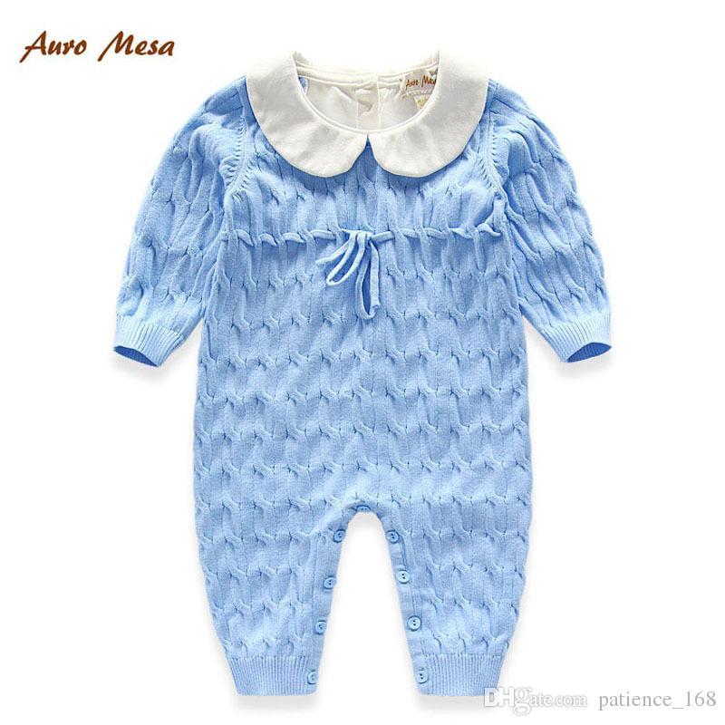 Mameluco de terciopelo Recién nacido Venta caliente recién llegado de invierno bebé niños manga larga de algodón de alta calidad mantener caliente suéter mameluco engrosada es