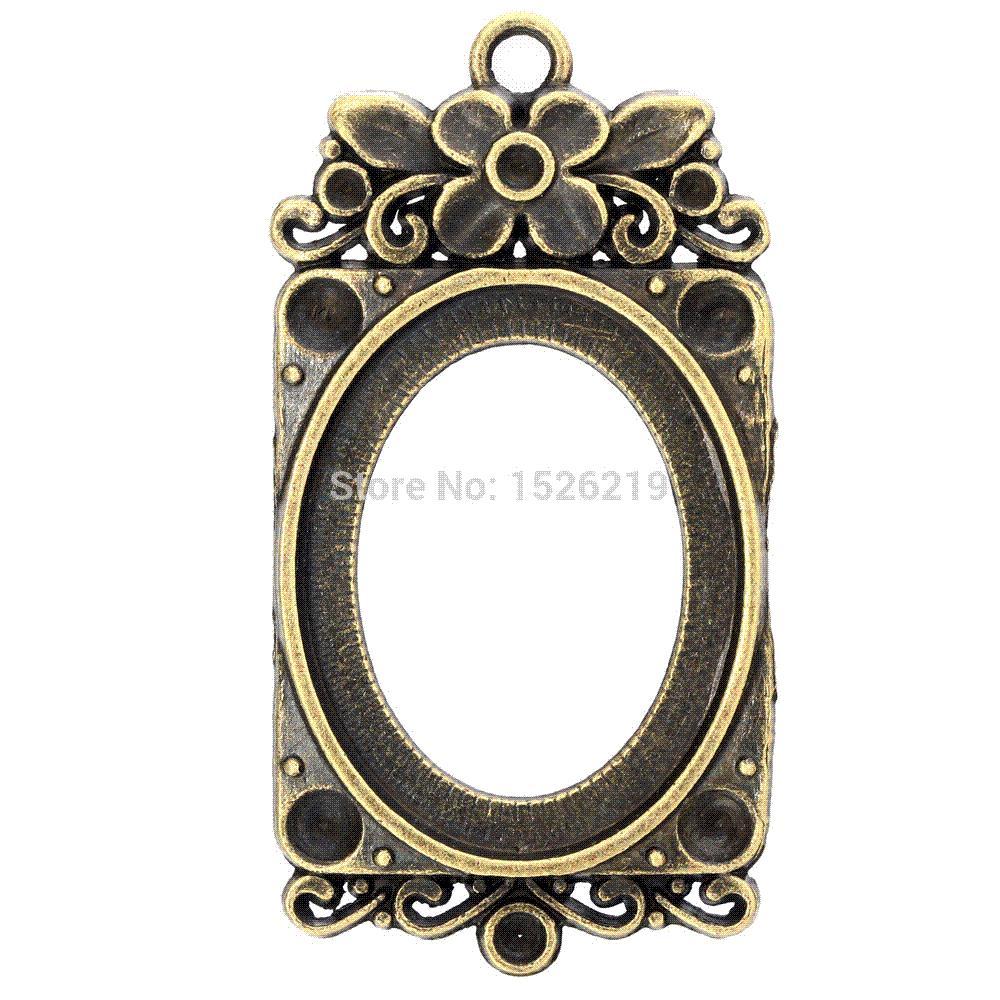 Wholesale Antique Bronze Inner Size 23x30mm Frame Setting Pendants ...