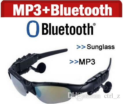 Intelligente Gläser Bluetooth V4.1 Sunglass 4 Farben Sun-Glassport-Kopfhörer MP3-Player Bluetooth-Telefon-drahtlose Kopfhörer Bluetooth-Brillen