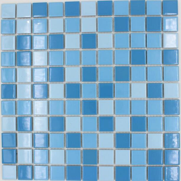 Pool Bathroom Colors: 2019 Square Tile Sky Blue Mixed Blue Color Ceramic Mosaic