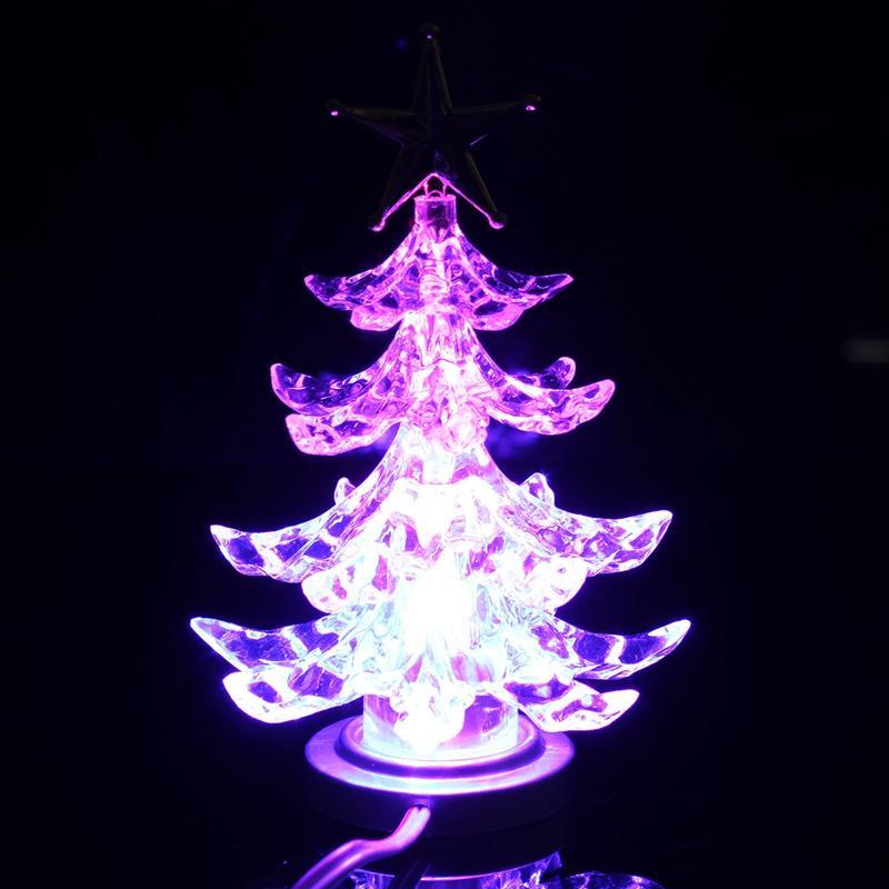 Nuevo Elegante Mejor Precio Estrella Superior USB Alimentado Iluminado LED Navidad Árbol de Navidad Escritorio Superior Decoración de La Luz de Super Calidad decoración del partido