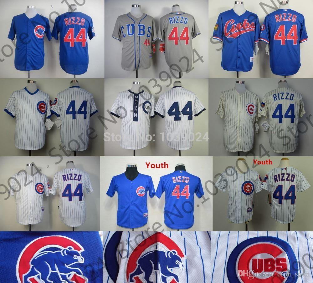 f914b446d ... mens majestic mlb chicago cubs 44 anthony where can i buy turn back the clock  mlb cubs 2016 new 44 anthony rizzo jersey czech 1909 1969 cream 1988 white  ...