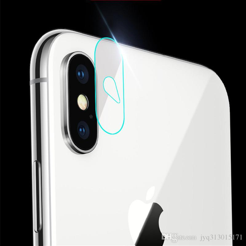 2017 NEW flexible Rear Transparent Back Camera Lens Tempered Glass Film Protector Case For iphone X