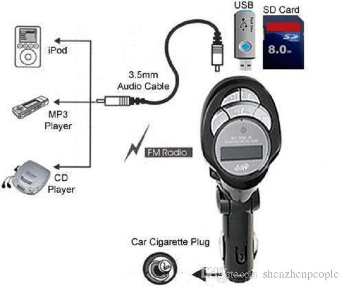 Lecteur MP3 Transmetteur FM sans fil Bluetooth USB / SD / MMC / CD LCD Télécommande Pliable voiture MP4 MP3 FM Modulator Lecteur