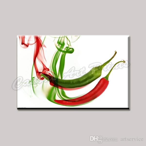 Dropship Modern Wall Art Canvas Painting Single Panel Peppers Canvas Prints Home Decoration Painting Ready to Hang for Kitchen Decoration