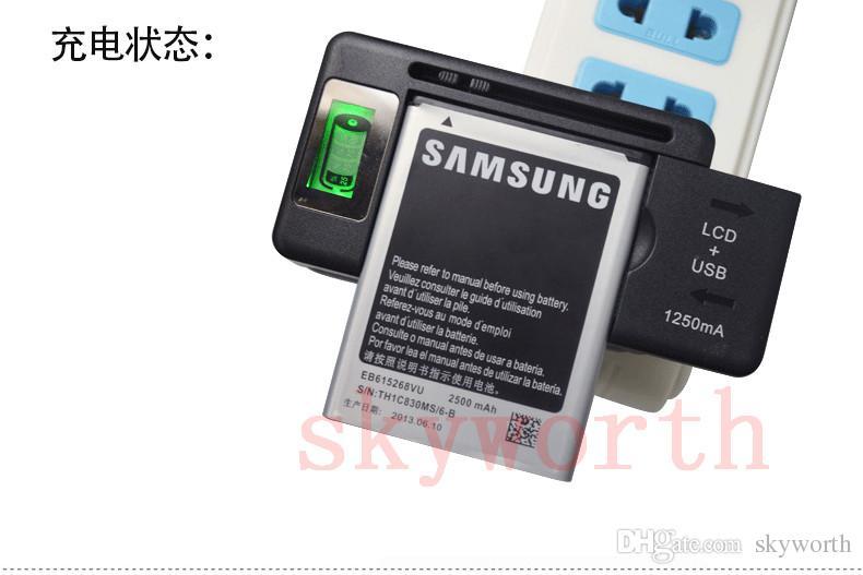 Evrensel LCD Ekran USB AC Telefon Pil Li-Ion Ev Duvar Dock Seyahat Şarj Samsung Galaxy S4 S5 S6 kenar Not 3 4 Nokia Cep Telefonu