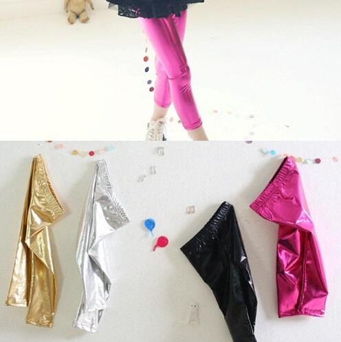 d152e3a02d5 Baby Toddler Kids Children Girls Gold Shiny Pants Tights Leggings ...