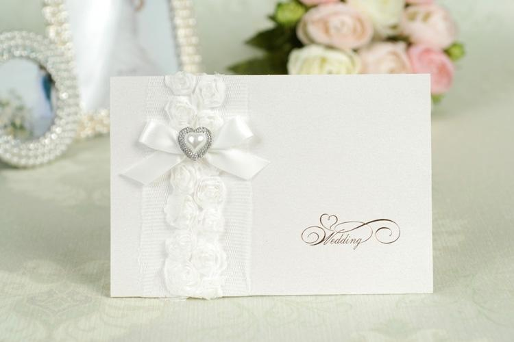 High Class European Style White Lace Wedding Invitations Wedding