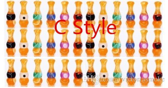 E cig 510 con puntas de goteo EGO puntas de goteo de dulces acrílicos Boquilla fo 510 Threading cigarrillo electrónico EGO puntas de goteo de caramelo acrílico