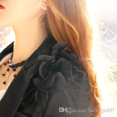 Splendid Women Black Beads Pendant Crystal Bib Chain Jewelry Sexy Lace Choker Necklace Christmas Gifts for Woman Hot Sale