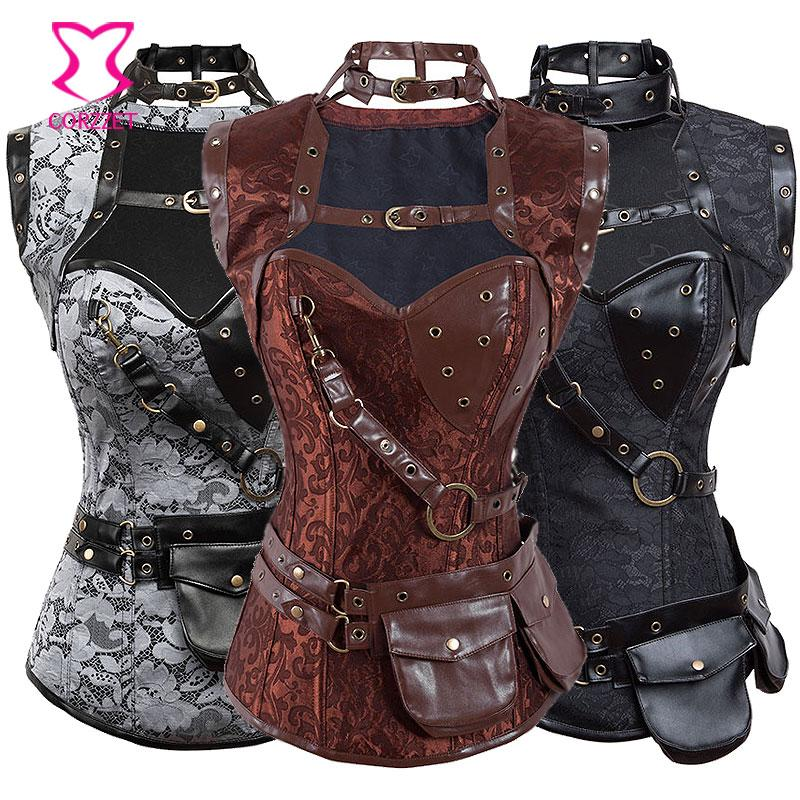 2a267d405d331 2019 Corzzet Steampunk Clothing Women Corsets And Bustiers Plus Size Corset  Gothic Corselet Feminino Espartilhos Burlesque Costumes From Erindolly360c