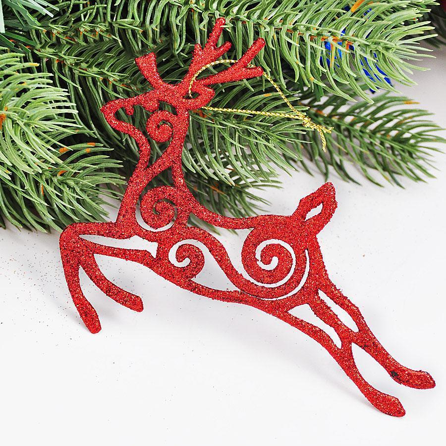 Craft Supplies Christmas Part - 22: Christmas Decoration Natal Navidad Craft Supplies Christmas Moose Ornaments  13x11cm Hollow Stick Powder Multicolor Optional Christmas Decoration On  Sale ...