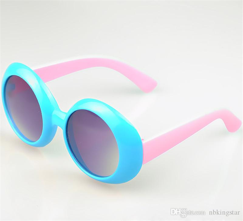 Unisex Kids Round Candy Colors UV 400 Protective Shades Children Goggles Boys Girls Fashion Sunglasses Outdoor Baby Cute Glasses