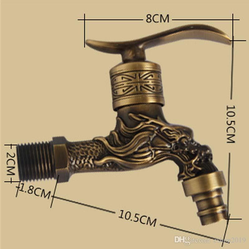 Brass Antique Bronze Bibcock Cold Tap Washing Machine Faucet Toilet Bibcock Copper Bibcock Tap Garden Faucet