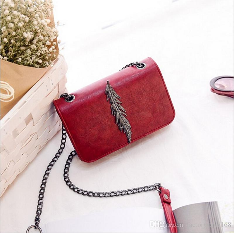 a3027fcaea3 Fashion Leaves Decorated Designer Handbags Mini Flap Bag PU Leather ...