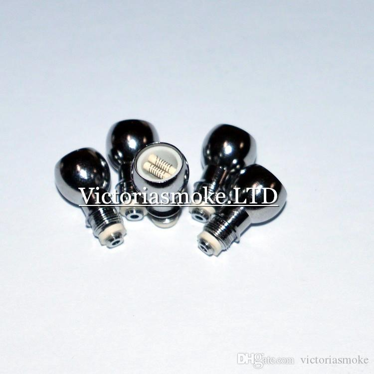 La bobina de cera de algodón de cerámica de bobina de cera dual más nueva para atomizador de globo de vidrio Vaporizador de vidrio Núcleo de cerámica Cerámica cera de hierba seca Cabeza de bobina