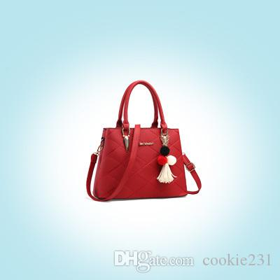 b5451cecd912 High End Brand Ladies Handbag Fashion Simple Shoulder Bag Imported Leather  Litchi Pattern Handbags Women Bags Man Bags Crossbody Purses From  Cookie231