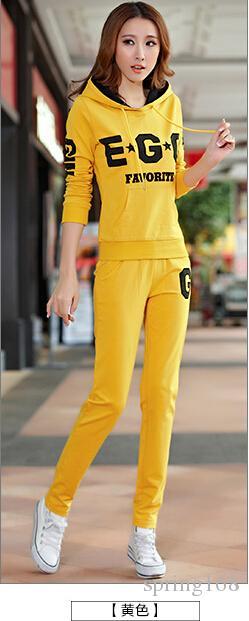 New arrival women's tracksuit sets Korean fashion casual Slim fleece coat + pants Sport Suit women's clothing
