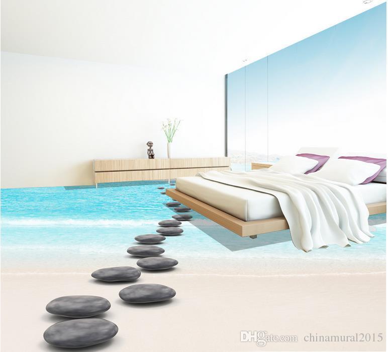 3d planta fondo de pantalla adhesivos para pisos de las maravillas baño sala de estar piso de la pintura de vinilo