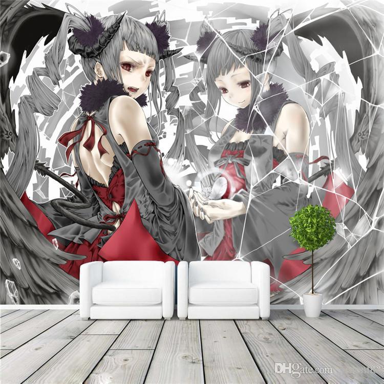 Compre Anime Japones Mural De Pared Beautiful Angel Photo Wallpaper Custom Waterproof Wallpaper Room Decor Dibujos Animados Arte De La Pared Kid Dormitorio