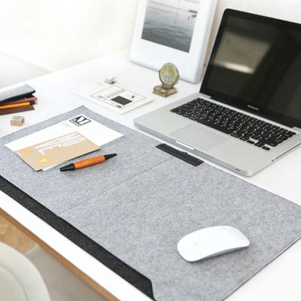 2018 Wholesale Locking Edge Desk Mat Large Grey Laptop Keyboard Mat