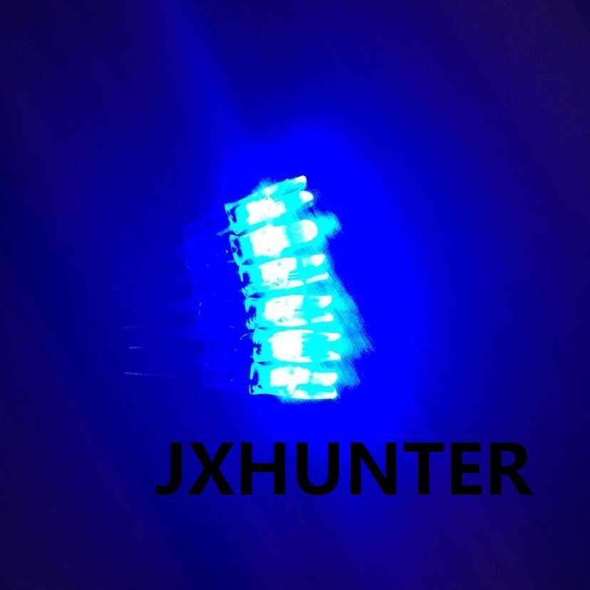 3PK Caça arco e flecha composto arco flecha de carbono caudas iluminado led light arrow nock para ID 6.2mm setas cor azul