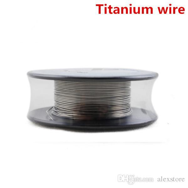 VaporTech Titanium Heating Wire Resistance 30 Feet AWG 24 26 28 30 Gauge Coil For Temp Control TC Mod RDA RBA Atomizer DHL