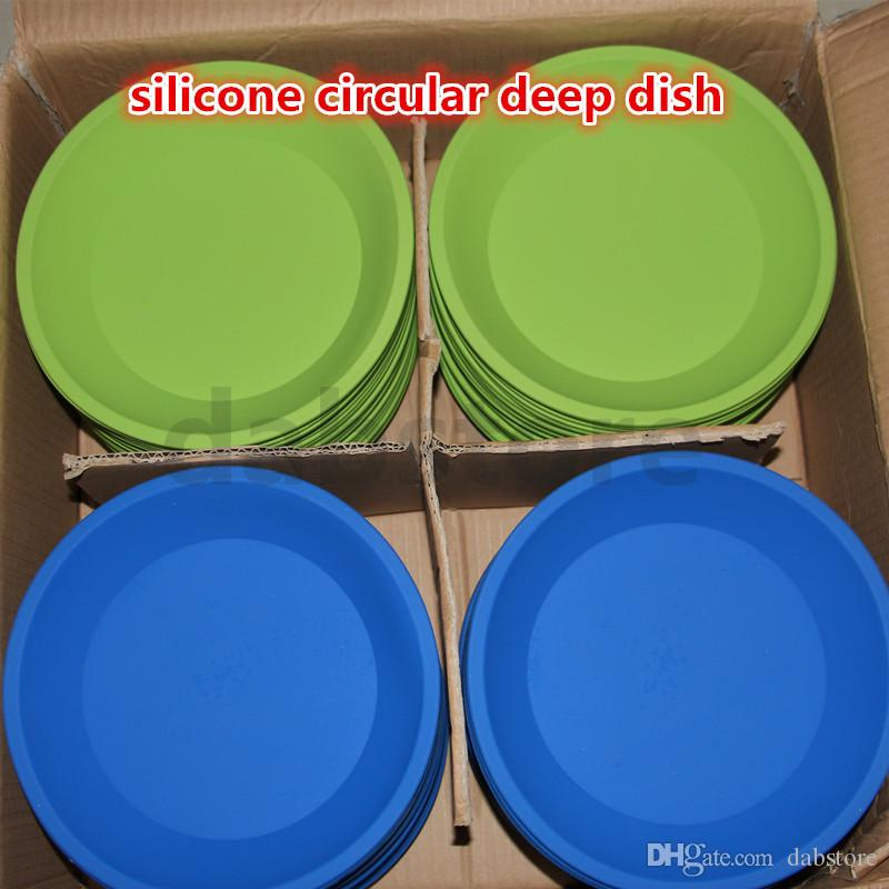 """factory price Deep Dish Round Pan 8.5"""" friendly Non Stick Silicone Container Concentrate Oil BHO silicone tray for silicone bong"""