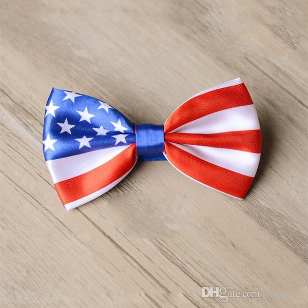 Groothandel-2015 nieuwe mode mannen strikje union Jack Britse vlag Bowtie Australische Amerikaanse vlag strikje stropdas das groothandel