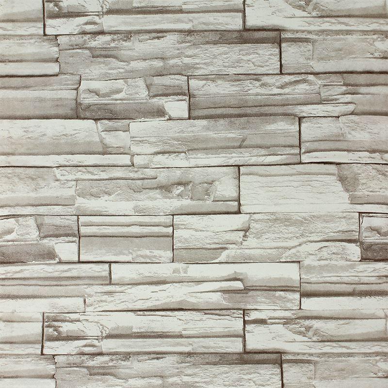 Stone Wall Paper 10meters3d block/stone/slate/brick wall paper claasic wallpaper