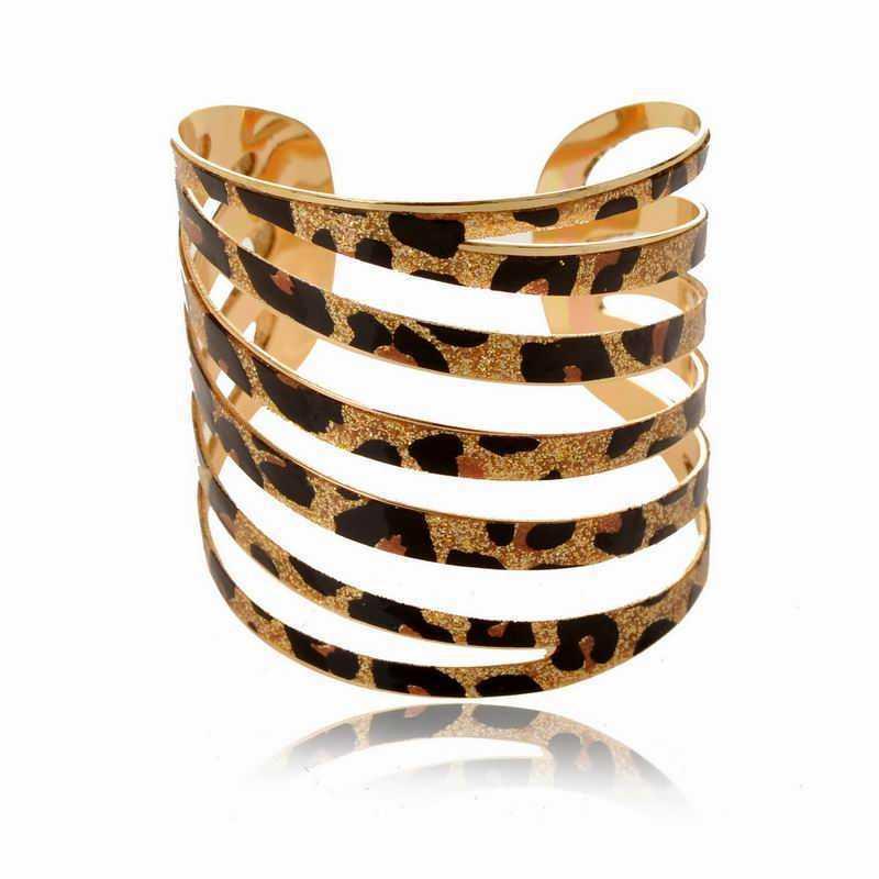 Stylish 2015 Leopard Print Cutout Cuff Bracelets For Women Sparkle ...