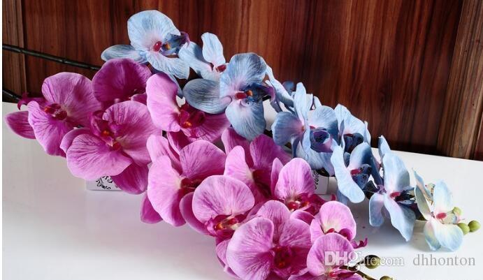 Autumanl Güve Orkide çiçek kelebek orkide yapay çiçek pu çiçek ev düğün dekorasyon için tüm saler ücretsiz DHL kargo HM015