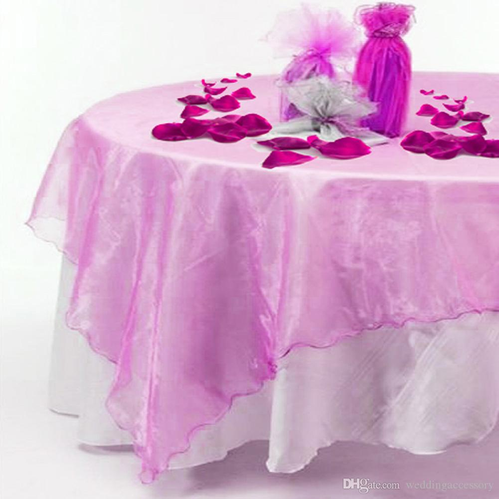 Aqua Blue Turquoise Organza Table Overlay Cloth 72X72 Wedding Supply Party  Sheer Colors  OCL Table Runner Organza Tablecloth Wedding Online With  $6.53/Piece ...