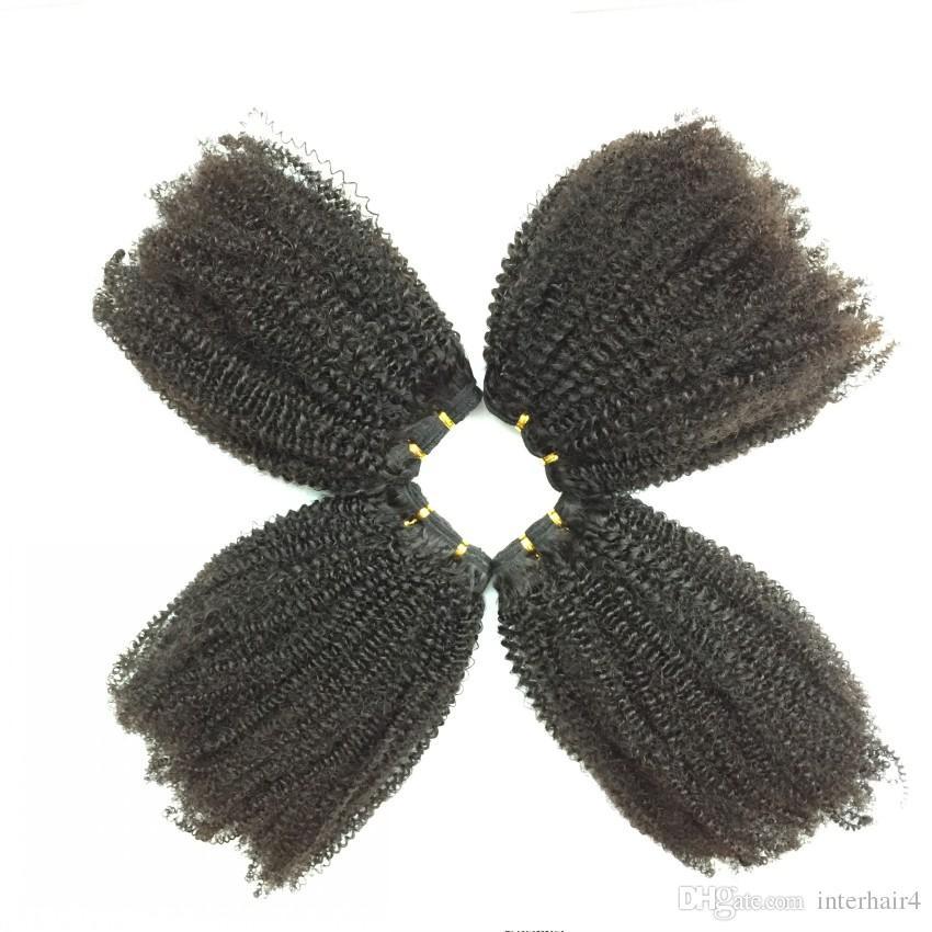 Brazilian Kinky Curly Hair Weaves Natural Black Human Hair Extensions Brazilian Afro Kinky Curly Hair Weaves Cheap Hair Weaves Curly