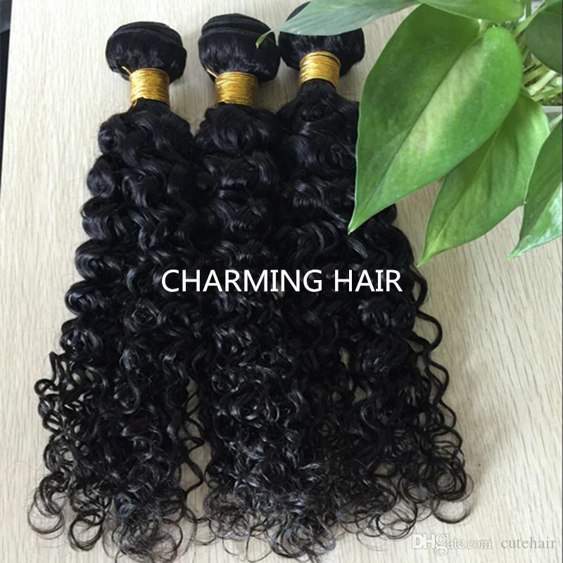 7A non trasformati brasiliano onda profonda tessuto dei capelli ricci vergini 3 pz lotto brazillian profonda arricciatura estensioni dei capelli vergini 3 pacchi
