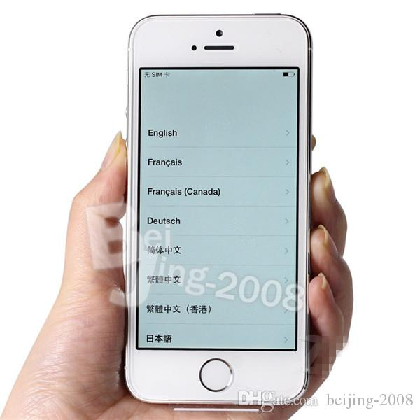 Original refurbished iPhone 5S Dual core 16GB 4.0 inch IPS screen IOS 8 WIFI 1080P 8MP Camera iPhone 5S fingerprint unlocked phone